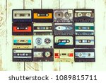 collection of various vintage... | Shutterstock . vector #1089815711