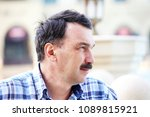 thoughtful businessman portrait | Shutterstock . vector #1089815921