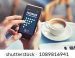 positive feedback  customer... | Shutterstock . vector #1089816941