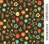 seamless floral pattern  ... | Shutterstock .eps vector #1089821051