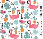 tropical seamless pattern | Shutterstock .eps vector #1089821381