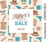 father's day sale design  ... | Shutterstock .eps vector #1089821831
