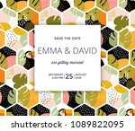 save the date card   tropical... | Shutterstock .eps vector #1089822095