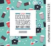 movie themed sale design | Shutterstock .eps vector #1089822125