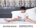 3 years old little cute asian... | Shutterstock . vector #1089823901