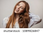 Happy Young Red Haired Woman I...