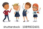 children uniform. back to... | Shutterstock .eps vector #1089832601