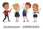 children uniform. back to... | Shutterstock .eps vector #1089832601