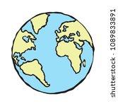 globe orb round hemisphere...