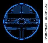 hud futuristic  blue elements... | Shutterstock .eps vector #1089843659