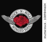 new york rock and roll girl... | Shutterstock .eps vector #1089844604