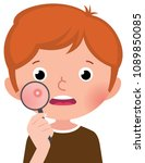 a teenage boy with a... | Shutterstock .eps vector #1089850085