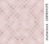elegant rose gold moroccan... | Shutterstock .eps vector #1089854195