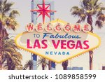 historic welcome to fabulous...   Shutterstock . vector #1089858599