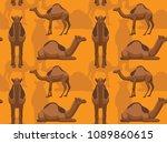 camel dromedary background... | Shutterstock .eps vector #1089860615