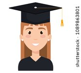 woman student graduating with... | Shutterstock .eps vector #1089863801