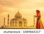 taj mahal scenic the morning... | Shutterstock . vector #1089865217