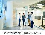 full length portrait of group...   Shutterstock . vector #1089866939