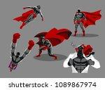 comic superhero actions in... | Shutterstock .eps vector #1089867974