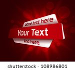 red abstract design. vector... | Shutterstock .eps vector #108986801