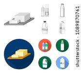 milk  calcium  product  food ... | Shutterstock .eps vector #1089870761