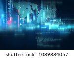 programming code abstract... | Shutterstock . vector #1089884057