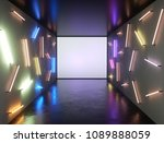 abstract contemporary art space ... | Shutterstock . vector #1089888059