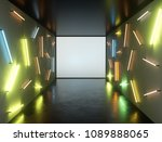 abstract contemporary art space ... | Shutterstock . vector #1089888065