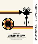 movie and film modern retro... | Shutterstock .eps vector #1089888899