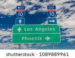 august 23  2017   interstate 10 ... | Shutterstock . vector #1089889961