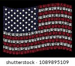 uncle sam hat pictograms are... | Shutterstock .eps vector #1089895109