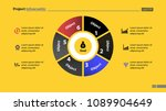 pie chart with six parts... | Shutterstock .eps vector #1089904649