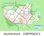 generic map of an imaginary... | Shutterstock .eps vector #1089906311