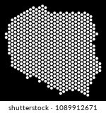 hex tile poland map. vector...   Shutterstock .eps vector #1089912671