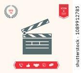 clapperboard icon symbol | Shutterstock .eps vector #1089912785