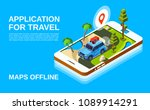 travel application vector... | Shutterstock .eps vector #1089914291