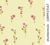 trendy floral background with... | Shutterstock .eps vector #1089915167
