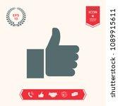 thumb up gesture   Shutterstock .eps vector #1089915611