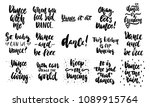 hand drawn lettering quotes... | Shutterstock .eps vector #1089915764