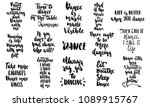 hand drawn lettering quotes... | Shutterstock .eps vector #1089915767