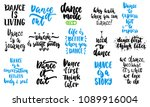 hand drawn lettering quotes... | Shutterstock .eps vector #1089916004