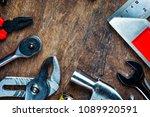 set of construction tools on...   Shutterstock . vector #1089920591