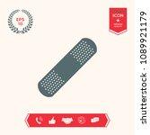 medical  plaster  adhesive... | Shutterstock .eps vector #1089921179