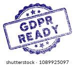 gdpr ready stamp seal. vector... | Shutterstock .eps vector #1089925097