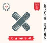 cross adhesive bandage  medical ... | Shutterstock .eps vector #1089929585