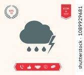 cloud thunderstorm lightning... | Shutterstock .eps vector #1089929681
