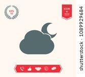 cloud moon symbol icon | Shutterstock .eps vector #1089929684