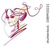 vector  stylish  original hand ... | Shutterstock .eps vector #1089933221