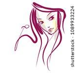vector  stylish  original hand ... | Shutterstock .eps vector #1089933224