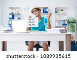 Small photo of Businessman holding message in office
